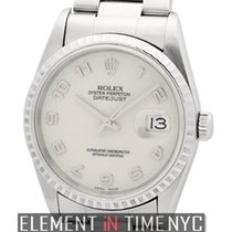 Rolex Datejust Steel Fluted Bezel Silver Jubilee Dial Circa...
