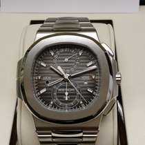 Patek Philippe 5990/1A Steel Nautilus Chronograph Black Dial...