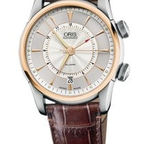 Oris Artelier Alarm Stainless Steel with Rose Gold