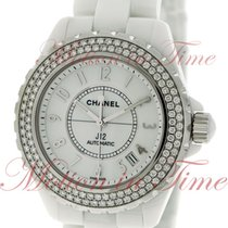 Chanel J12 38mm Automatic, White Dial, Diamond Bezel - Ceramic...