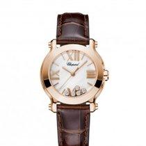 Chopard 274189-5001 Happy Sport 30mm Gold Diamonds Lady