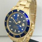 Rolex Submariner Solid 18K Gold Mens Watch