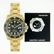 Rolex 116618LN Submariner Black Dial Yellow Gold