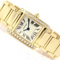 Cartier TANK FRANCAISE 18K YELLOW GOLD & DIAMONDS