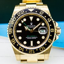 Rolex 116718 GMT Master II Black Dial 18K Yellow Gold /...
