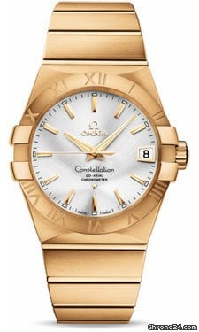 Omega Constellation Chronometer 38 mm Brushed Yellow Gold
