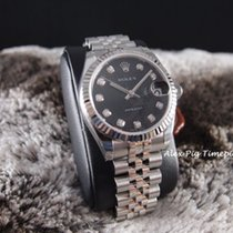 Rolex Datejust 178274 Boy Size Black Computer Diamond Dial [N...