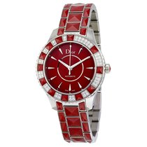 Dior Christal Red Dial Diamond with Red Sapphire Inserts...