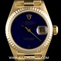 Rolex 18k Y/Gold O/P Rare Lapis Lazuli Dial Datejust Vintage...