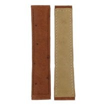 Hirsch Ostrich Brown Leather Strap 20mm