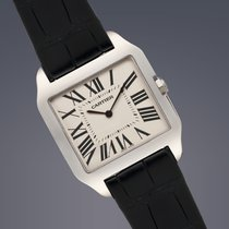 Cartier Santos Dumont 18ct White gold manual watch