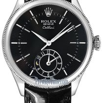 Rolex Cellini Dual Time 39mm 50529 Black