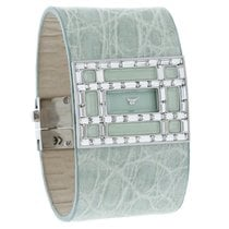 Valentino Crystal Ladies Mint Leather Swiss Quartz Watch...