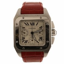 Cartier Santos 100 Chronograph Watch W20090X8 (Pre-Owned)