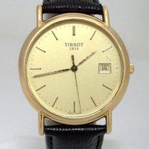Tissot Mens Tissot 1853 18k Yellow Gold Date Dial Black...