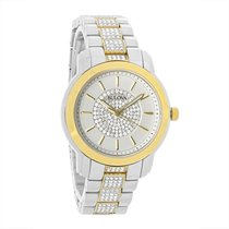Bulova Crystal Ladies 2-Tone Stainless Steel Quartz Watch 98L236
