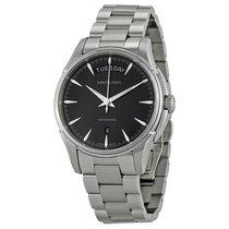 Hamilton Men's Jazzmaster Black Dial Stainless Steel Watch