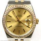 Rolex 17013 OysterQuartz Two Tone Datejust 1.00 Carat Diamond...