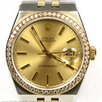 Rolex 17013 OysterQuartz Two Tone Datejust 1.00 Carat Diamond...