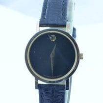 Movado Damen Uhr 25mm Stahl Museum Watch Rar 3 Top Zustand 18k...
