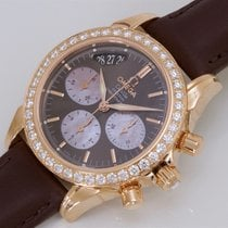 "Omega De Ville Ladies Chronograph Jewellery Rose Gold ""Cho..."