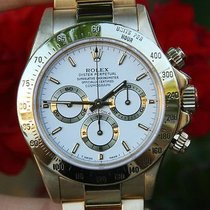 Rolex Mens Watch 18k Yellow Gold Daytona W S/n 1990's...