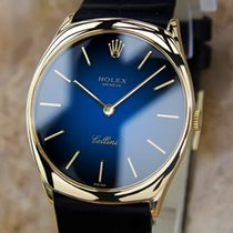 Rolex Cellini Swiss Made 18k Solid Yellow Gold Mens Luxury...