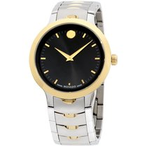 Movado Luno Sport Men's Watch Stainless Steel Black Dial...