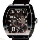 Richard Mille Automatic Titanium Black Leather Mens Watch