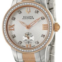 Bulova Masella Two-Tone Steel Diamond Womens Watch 65R139