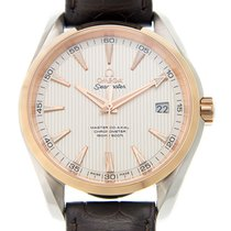 Omega Seamaster 18k Rose Gold And Steel Silver Automatic...