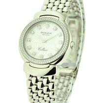 Rolex Unworn 6671/9 Cellisima with 2 Row Diamond Bezel - White...