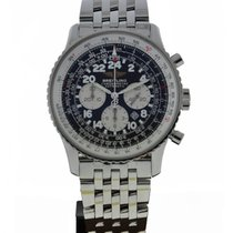 Breitling Navitimer Cosmonaute Stainless Steel Black Dial On...