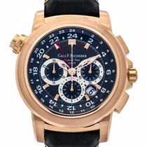 Carl F. Bucherer Carl F.  Patravi TravelTec 18k R/G Chronograp...