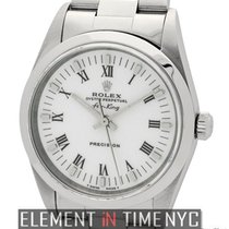 Rolex Air-King Stainless Steel White Roman Dial 34mm Ref. 14000