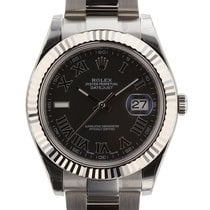 Rolex Datejust II Mens Stainless Steel & 18K White Gold...