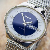 Bulova Double Date Stainless Steel Automatic 70s Mens Dress...