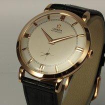 Omega traumhafte große Automatik Uhr 18K Roségold von 1951