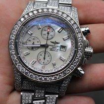 Breitling Super Avenger With Custom Set Diamonds Over 20...
