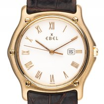Ebel Sport Classic 18kt Gelbgold Quarz Armband Leder 35mm...