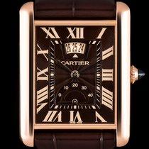 Cartier 18k R/G Power Res Calendar Tank Louis B&P W1560002