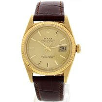 Rolex Oyster Perpetual Datejust 18K Yellow Gold 1601