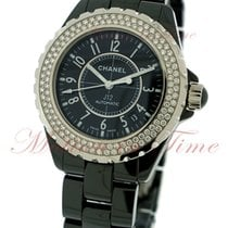 Chanel J12 38mm Automatic, Black Dial, Diamond Bezel - Black...
