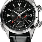 Tudor Heriatge Advisor Black Dial Leather Men's Watch