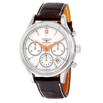 Longines Heritage Chronograph Silver Dial Stainless Steel...