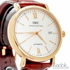 IWC Portofino Rose Gold Automatic Brown Leather Watch 40mm...