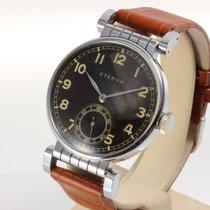 Eterna seltene große Vintage Uhr 37 mm, sehr gut erhalten