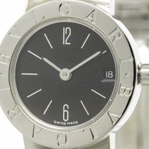 Bulgari Polished  - Steel Quartz Ladies Watch Bb23ss (bf097586)