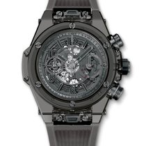 Hublot : 45mm Big Bang Unico All Black Sapphire Watch