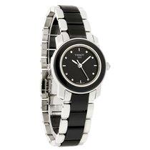 Tissot Cera Diamond Ladies Black Ceramic Swiss Quartz Watch...